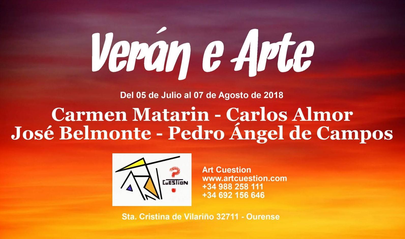 Exposición Julio - Agosto 2018 Ourense : Verán e Arte